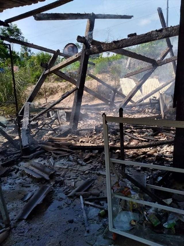 Cháy nhà dân ở Quảng Nam, thiệt hại hàng trăm triệu đồng